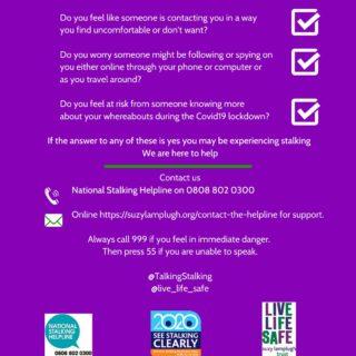 National Stalking Week, COVID-19, cyberstalking, working from home, Suzy Lamplugh Trust,