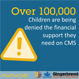 #FixTheCMS, DWP, Child Maintenance Service, Gingerbread, Mumsnet, the Good Law Project, GLP, four parents, Letter Before Claim, Judicial Review