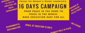 Start of 16 Days of Activism