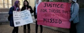 Hijab and hoodies protests sparked by Iraqi woman&#8217;s murder