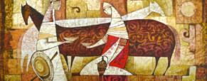 Female Kazakhstani artist exhibits The Rhythm of Color