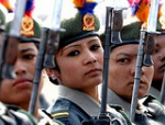 Nepal's female fighters give up their guns